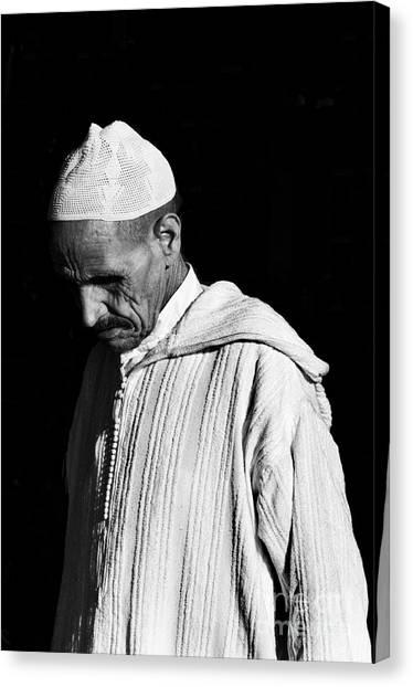 Moroccon Canvas Print - Medina Man 2 by Marion Galt