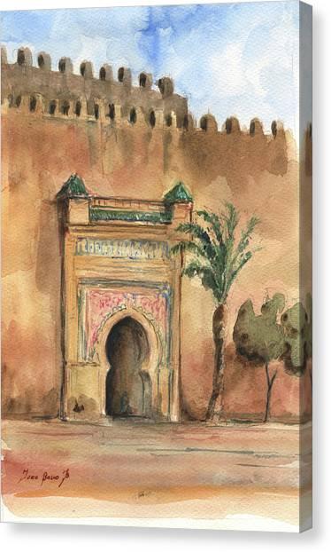 Moroccon Canvas Print - Medina Morocco,  by Juan Bosco