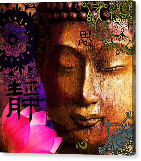 Statue Portrait Canvas Print - Meditate by Stacey Chiew