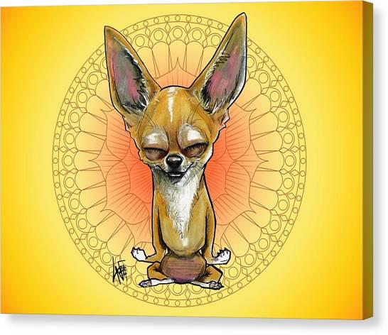 Meditating Chihuahua Canvas Print