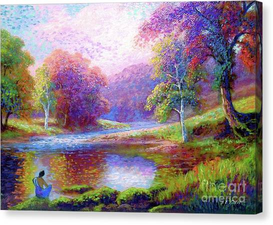 Water Scene Canvas Print - Meditating On The Eternal Now by Jane Small