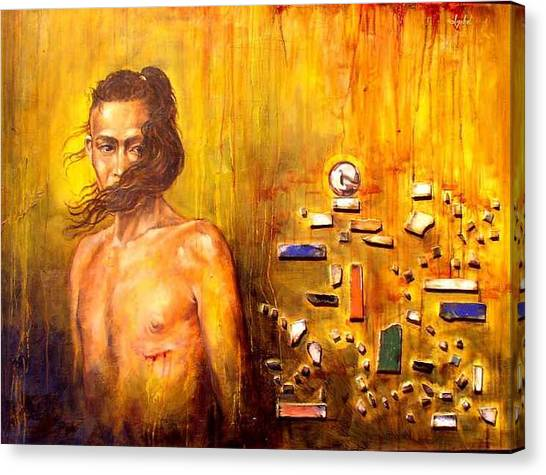 Meditation 2 Canvas Print by Ixchel Amor