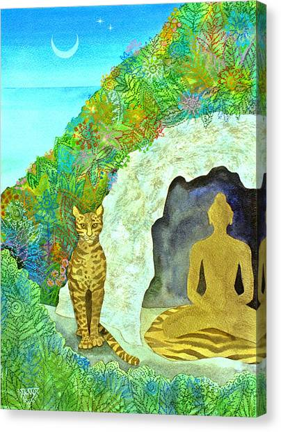 Yogi Canvas Print - Meditation At Dawn by Jennifer Baird