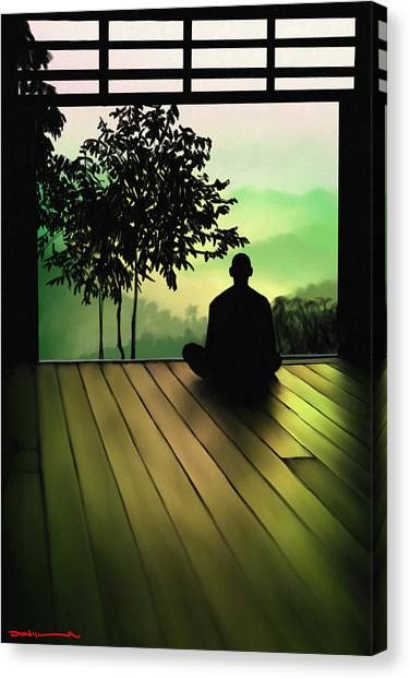 Coexist Canvas Print - Meditation by Donald Lawrence