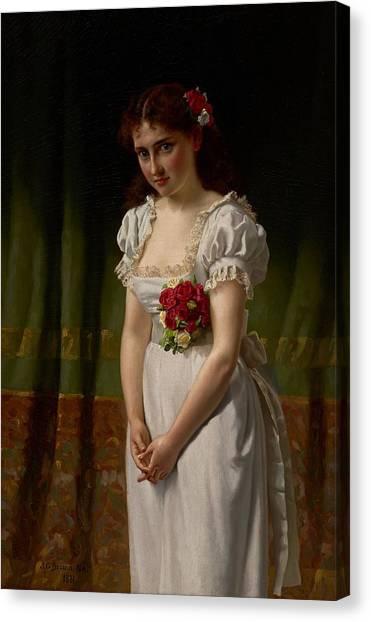Wedding Bouquet Canvas Print - Meditation by John George Brown