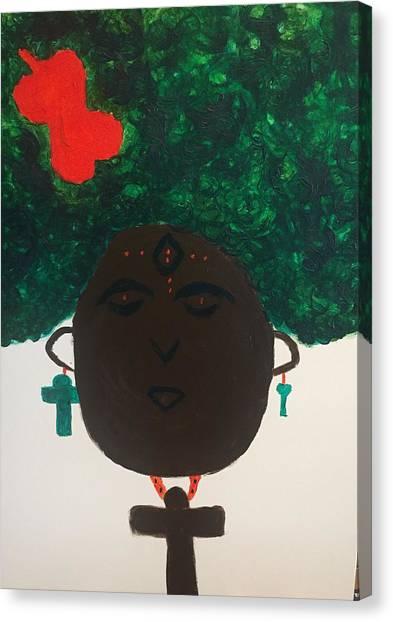 Meditation Queen  Canvas Print