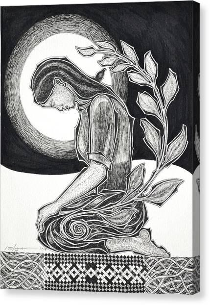 Meditation Canvas Print by Raul Agner