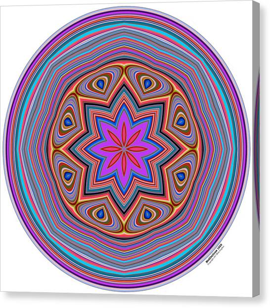 Canvas Print featuring the digital art Meditations 1255 by Brian Gryphon