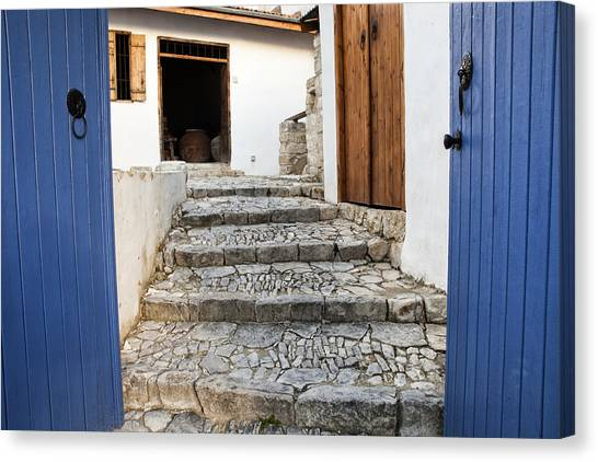 Mediteranean Old House Canvas Print