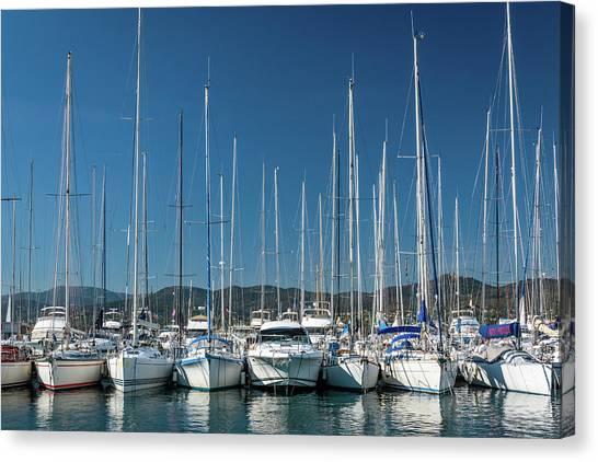Mediterranean Marina Canvas Print