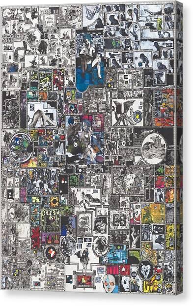 Monsters Canvas Print - Medusa Maze by Zak Smith