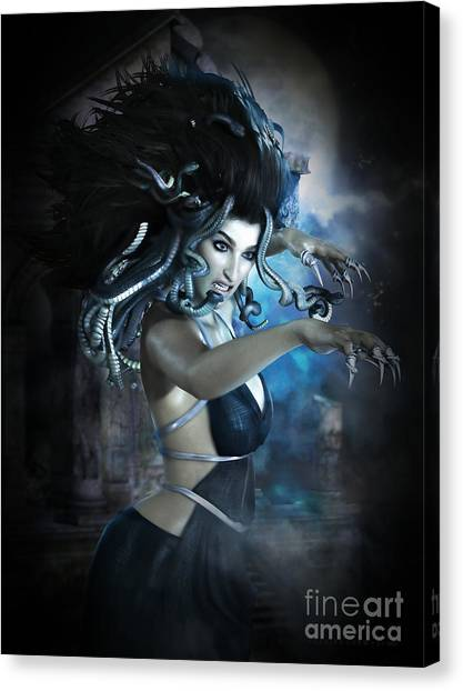 Gorgons Canvas Print - Medusa by Shanina Conway