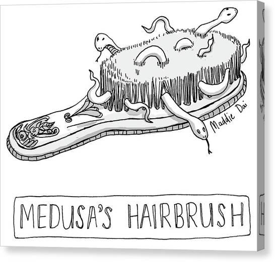 Medusas Hairbrush Canvas Print
