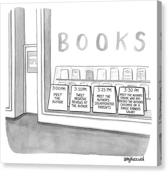 Meet The Author Canvas Print by Amy Kurzweil