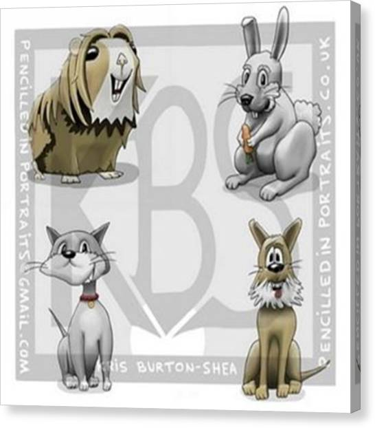 Rabbits Canvas Print - Meet The Critters!..4 Of My Creations by Kris Burton-Shea