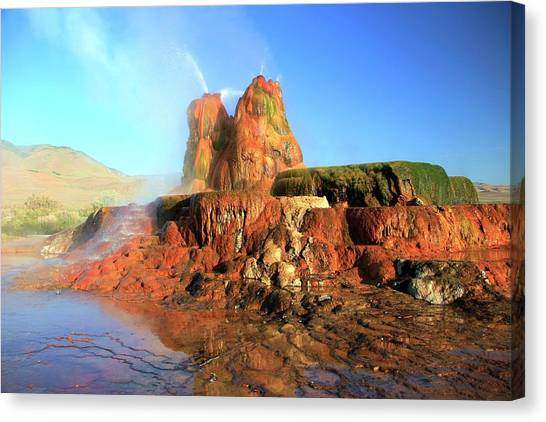 Canvas Print featuring the photograph Meet The Fly Geyser by Sean Sarsfield