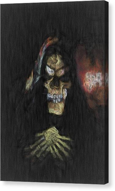 Meeting Darkness Canvas Print