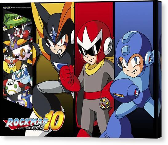 Mega Man Canvas Print - Mega Man 10 by Bert Mailer