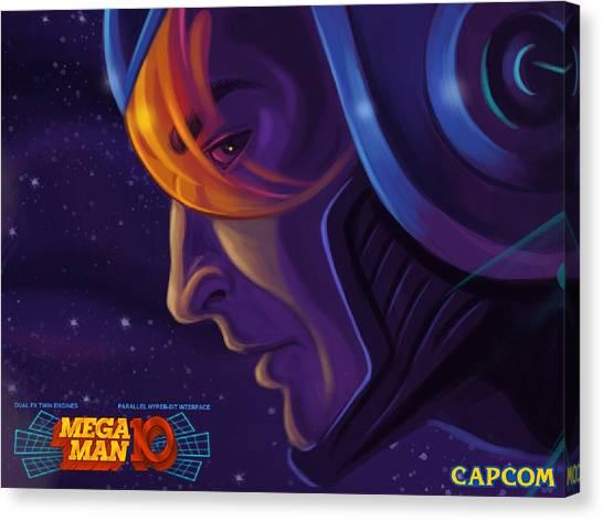Mega Man Canvas Print - Mega Man 10 by Zia Low