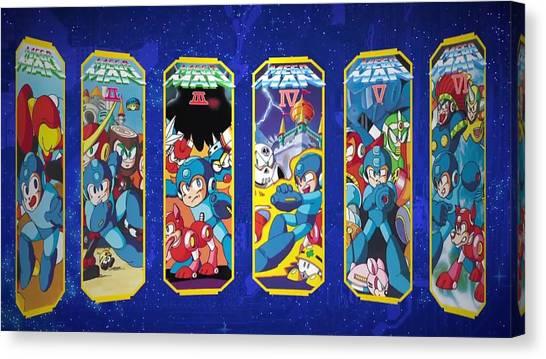 Mega Man Canvas Print - Mega Man Legacy Collection by Barbara Elvins