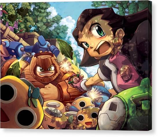 Mega Man Canvas Print - Mega Man by Lissa Barone
