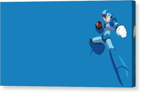 Mega Man Canvas Print - Mega Man X by Lucie Malecot