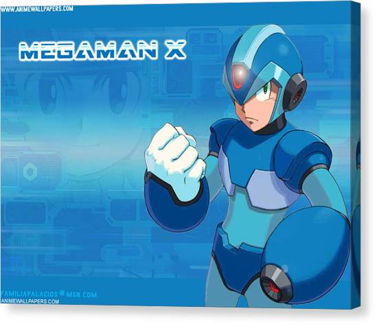 Mega Man Canvas Print - Mega Man X by Meggi Andrew