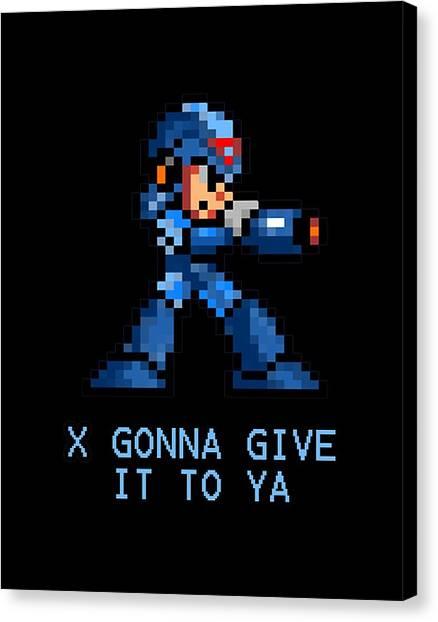 Mega Man Canvas Print - Megaman X by Mawar Ciara