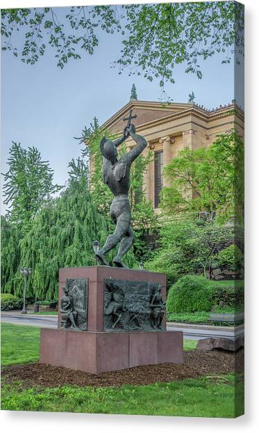 Canvas Print - Meher Statue - Philadelphia Museum Of Art by Bill Cannon
