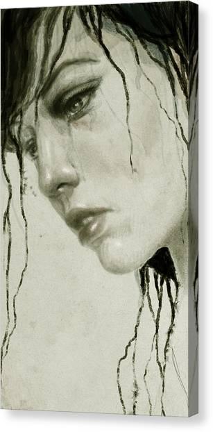 Sad Canvas Print - Melancholic by Diego Fernandez
