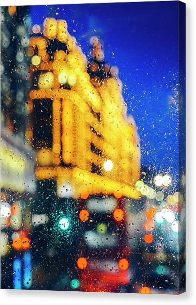 Melancholic London Lights  Canvas Print