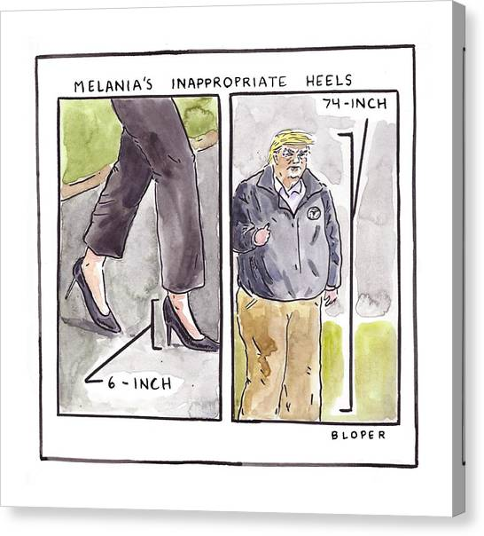 Melania's Inappropriate Heels Canvas Print