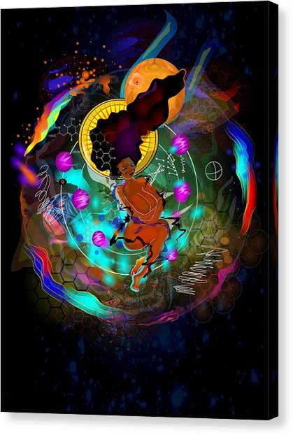 Coptic Art Canvas Print - Melanin by Kevin Philippe