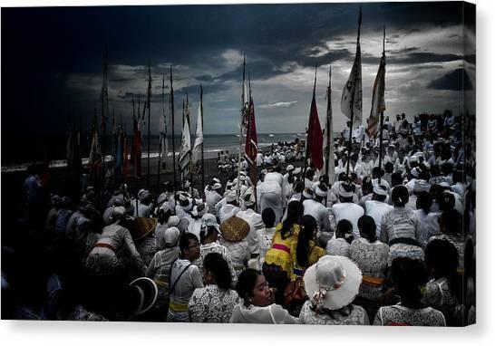 Hinduism Canvas Print - Melasti Ceremony by Ngurah Agus