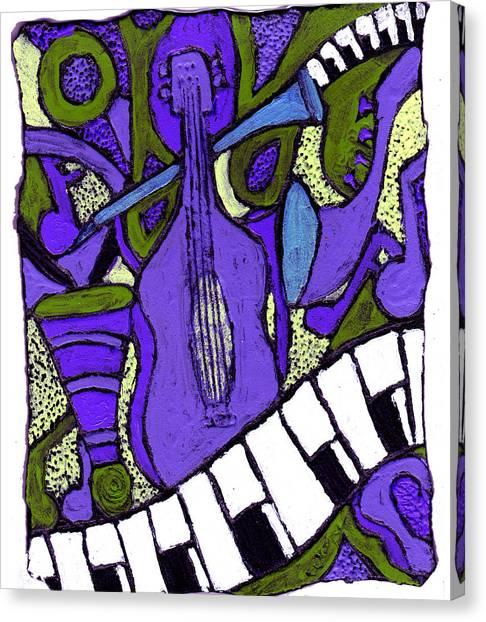 Melllow Jazz Canvas Print