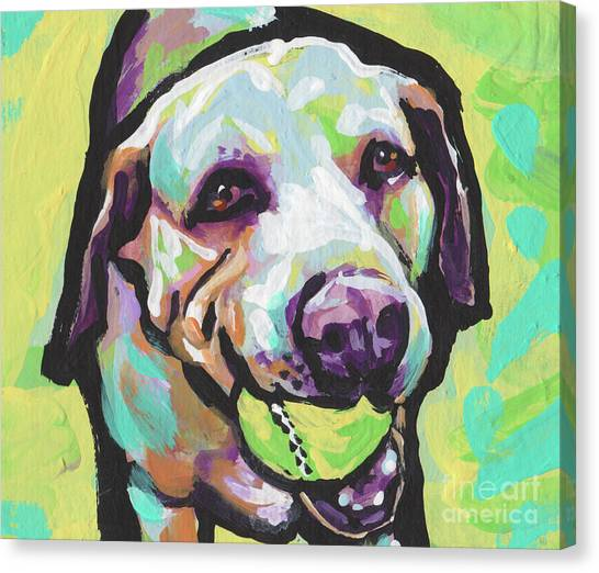 Yellow Lab Canvas Print - Mellow Yellow Lab by Lea