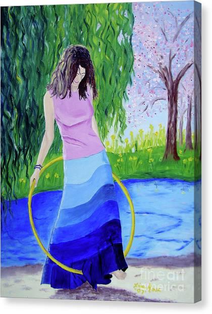 Melodys Hoop Canvas Print
