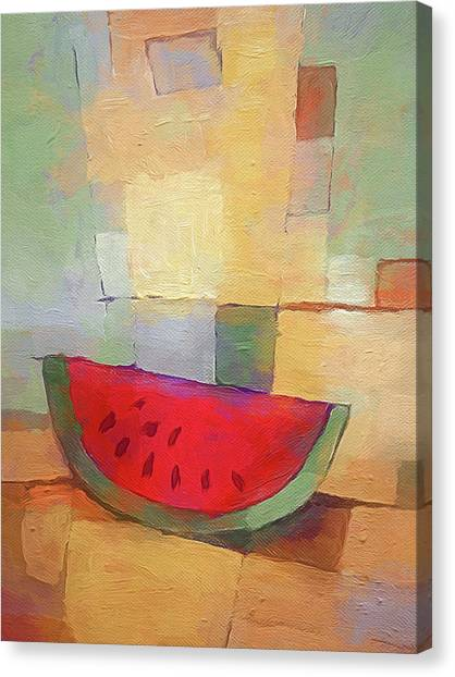 Melons Canvas Print - Melon Abstract by Lutz Baar