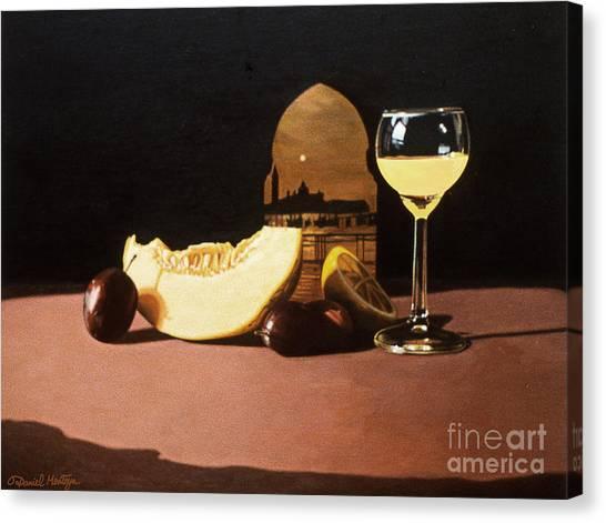Melon And Orange Juice Canvas Print by Daniel Montoya