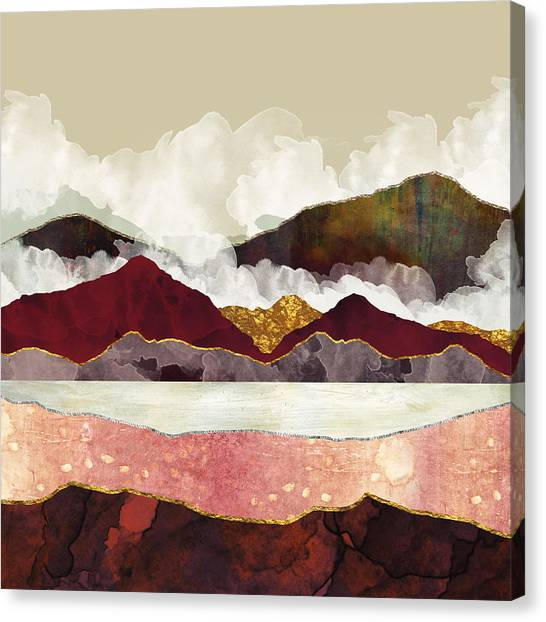 Landscapes Canvas Print - Melon Mountains by Katherine Smit