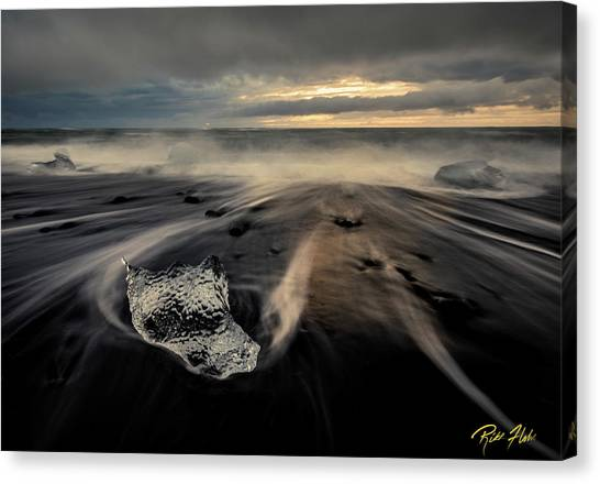 Canvas Print featuring the photograph Melted At Dawn by Rikk Flohr