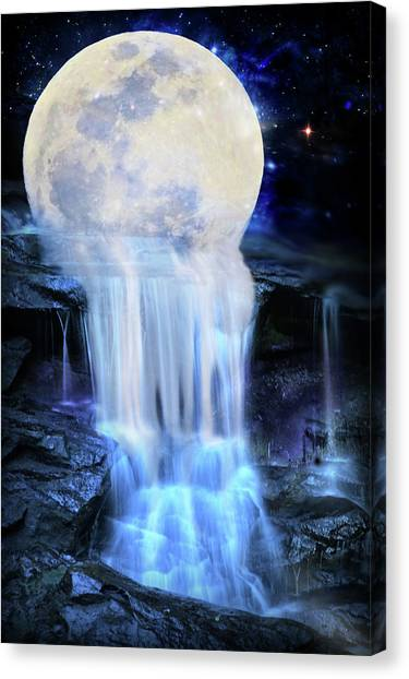 Melted Moon Canvas Print