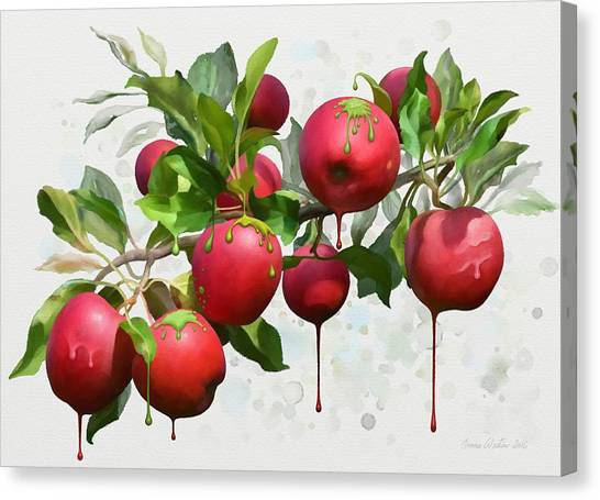 Melting Apples Canvas Print