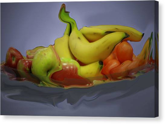 Melting Fruit Canvas Print by Bill Ades