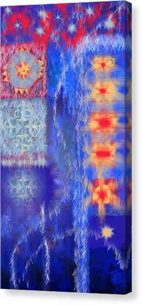 Melting Ice Canvas Print by Aliza Souleyeva-Alexander