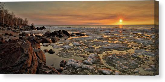 Melting Waters Canvas Print by Stuart Deacon