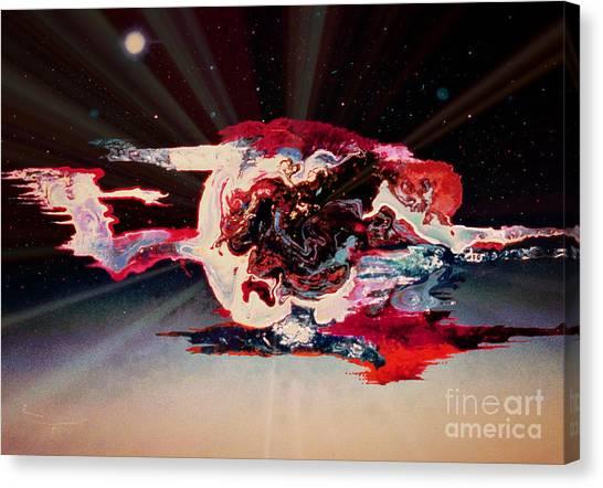 Melting World Canvas Print