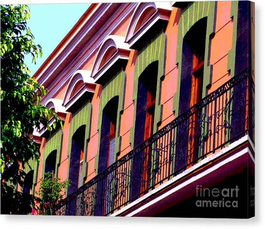Melville Balcony By Darian Day Canvas Print by Mexicolors Art Photography