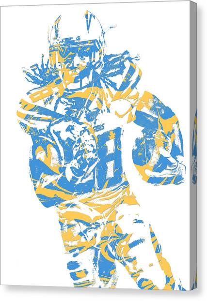 Los Angeles Chargers Canvas Print - Melvin Gordon Los Angeles Chargers Pixel Art 11 by Joe Hamilton