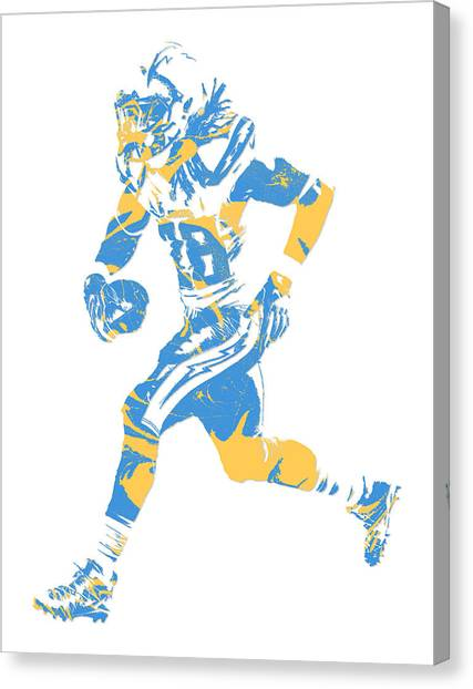 Los Angeles Chargers Canvas Print - Melvin Gordon Los Angeles Chargers Pixel Art 5 by Joe Hamilton